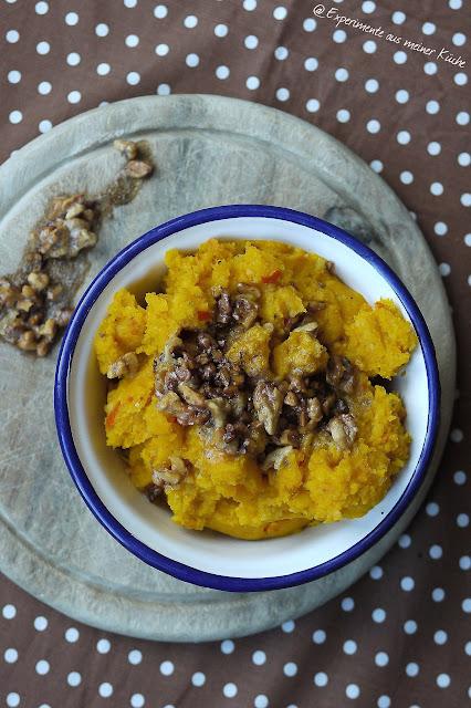 Experimente aus meiner Küche: Kürbis-Kartoffel-Stampf mit gebräunter Walnussbutter