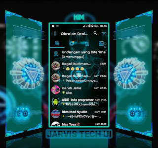 Droid Chat! V11.1.18 Jarvis Tech UI