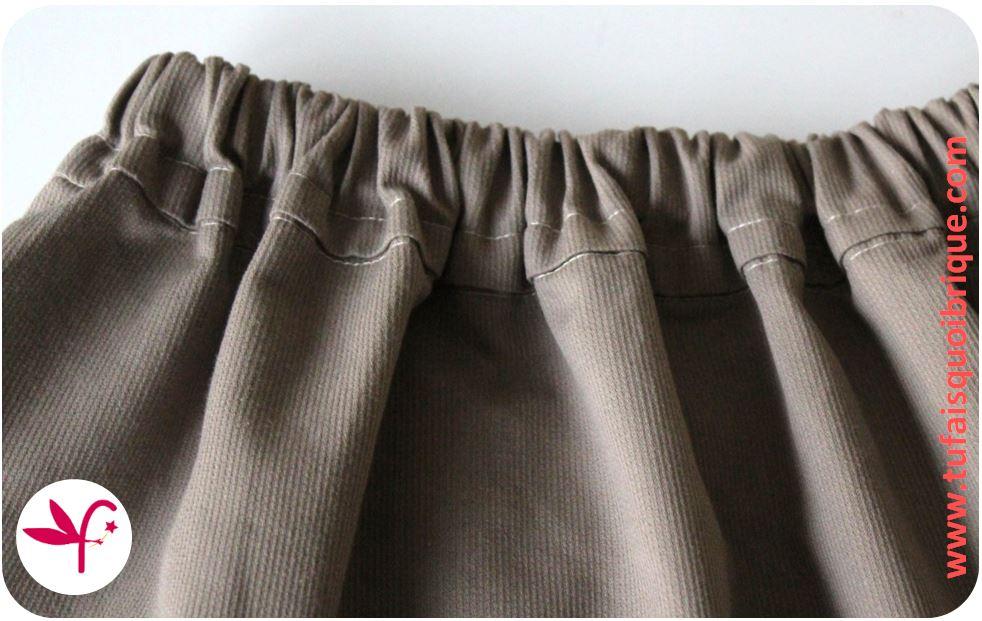 Tu fais quoi brique maman ma jupe lastiqu e au dos tuto inside - Tuto jupe facile elastique ...