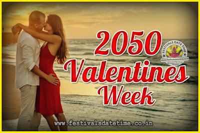2050 Valentine Week List : 2050 Valentine Week Schedule, Hug Day, Kiss Day, Valentine's Day 2050
