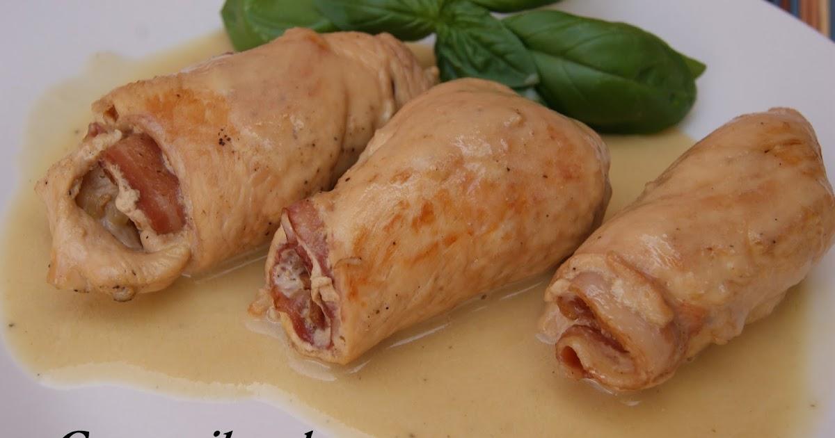 Con mil sabores rollitos de pollo con beicon for Cocinar ortiguillas