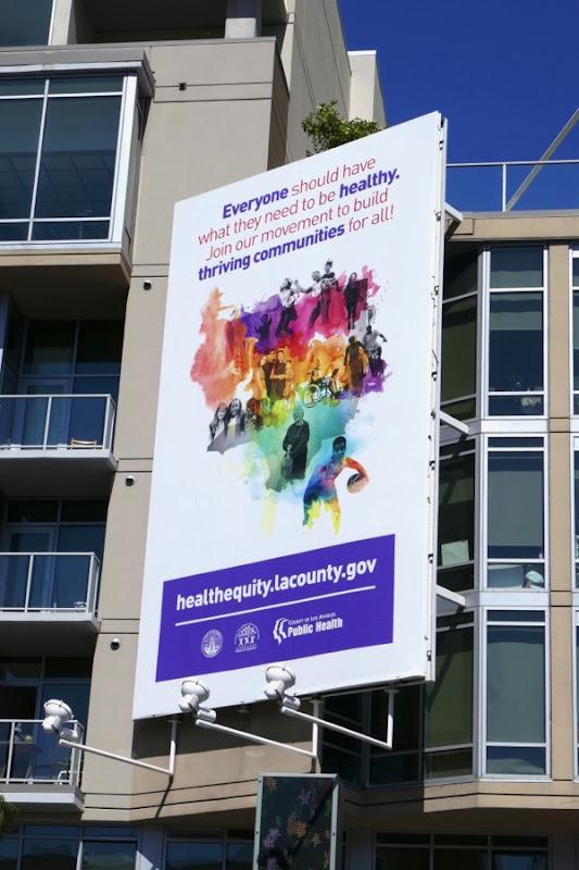 Health Equity LA County billboard