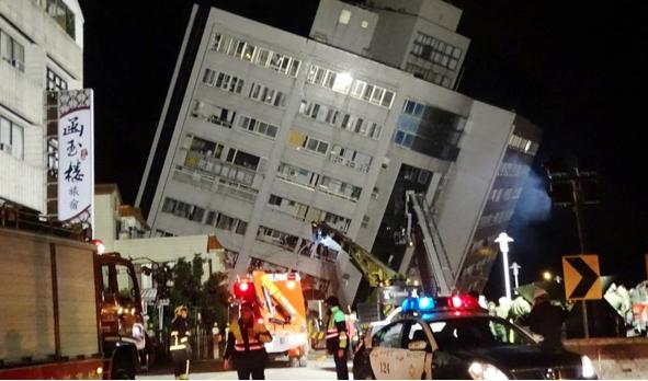 9 νεκροί και 62 αγνοούμενοι από το σεισμό των 6,4 Ρίχτερ στην Ταϊβάν