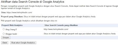 3. Melalui Google analytic