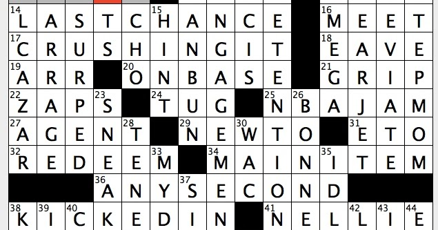 torrent of abuse crossword clue