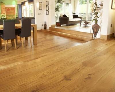 Sàn gỗ tự nhiên sồi trắng tạo nên không gian đẹp