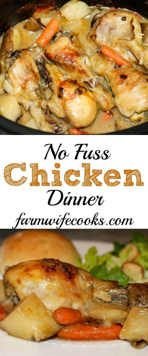 NO FUSS CHICKEN DINNER