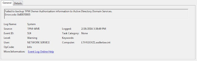 Bitlocker Access is Denied ~ Mick's IT Blogs
