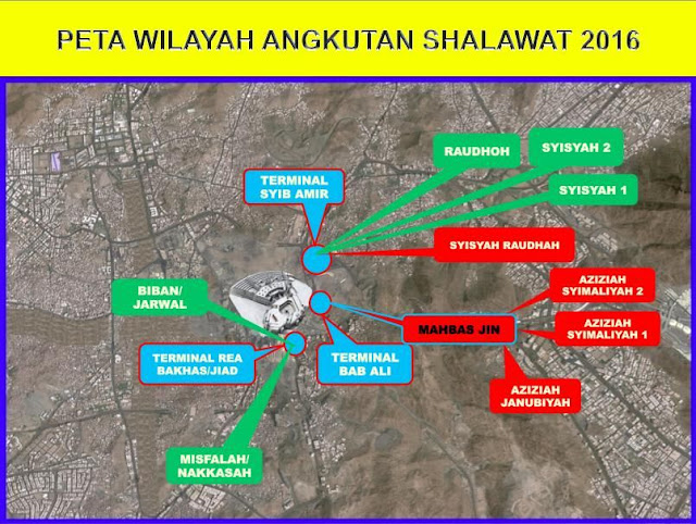 Peta Wilayah Bus Shalawat 2016