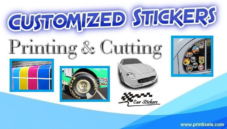 Custom sticker printing cutting