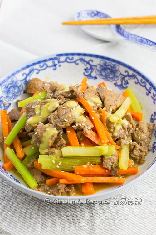 芥末牛肉 Beef Stir Fry with Mustard Sauce01