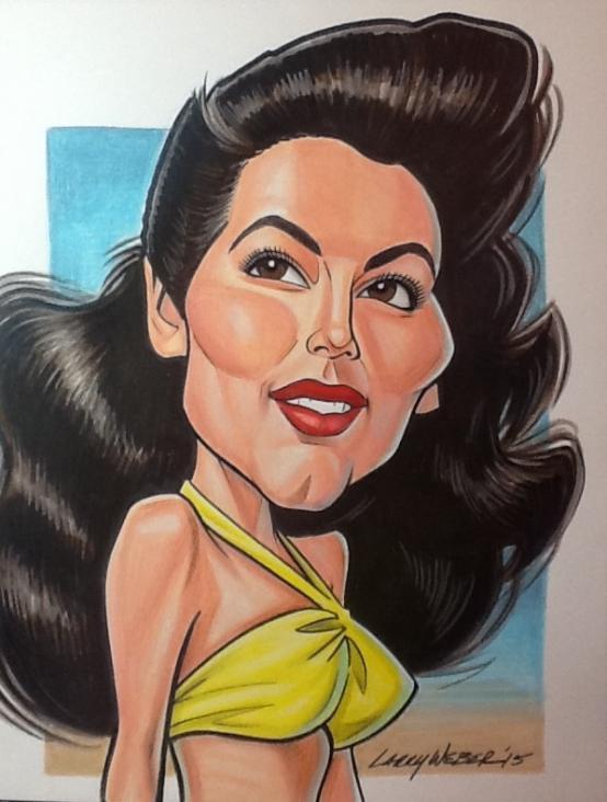 Caricatura de Ava Gardner por Larry Weber