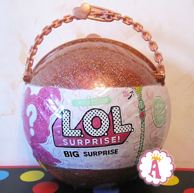 Ограниченная серия ЛОЛ Сюрприз громадный золотистый шар с 4 куклами