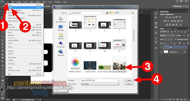 Cara Mudah Memasukkan Gambar ke Dalam Tulisan di Photoshop