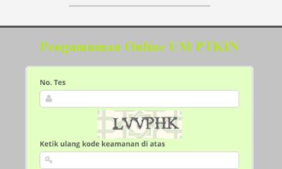 Pengumuman Online UM PTKIN 2018/2019