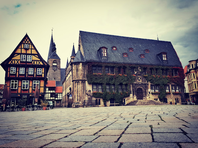 Medieval Quedlinburg cityhall rathaus