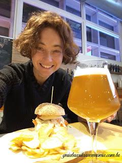 Eu fui de hamburger vegetariano!