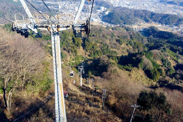 伊豆の国パノラマパークロープウェイからの景色