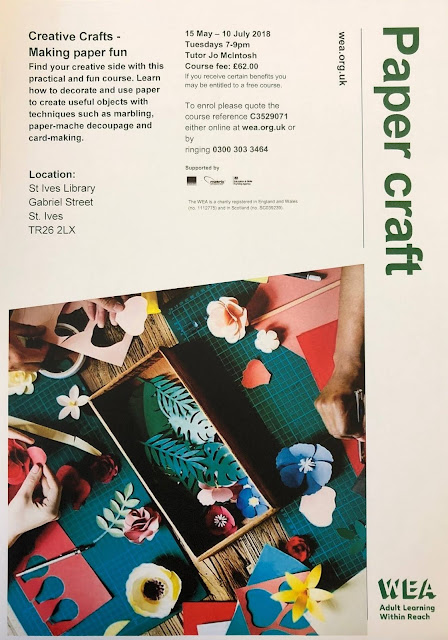 Papercraft Course - St Ives Library - May 2018