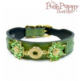 DAISY DOG COLLAR - LIME GREEN