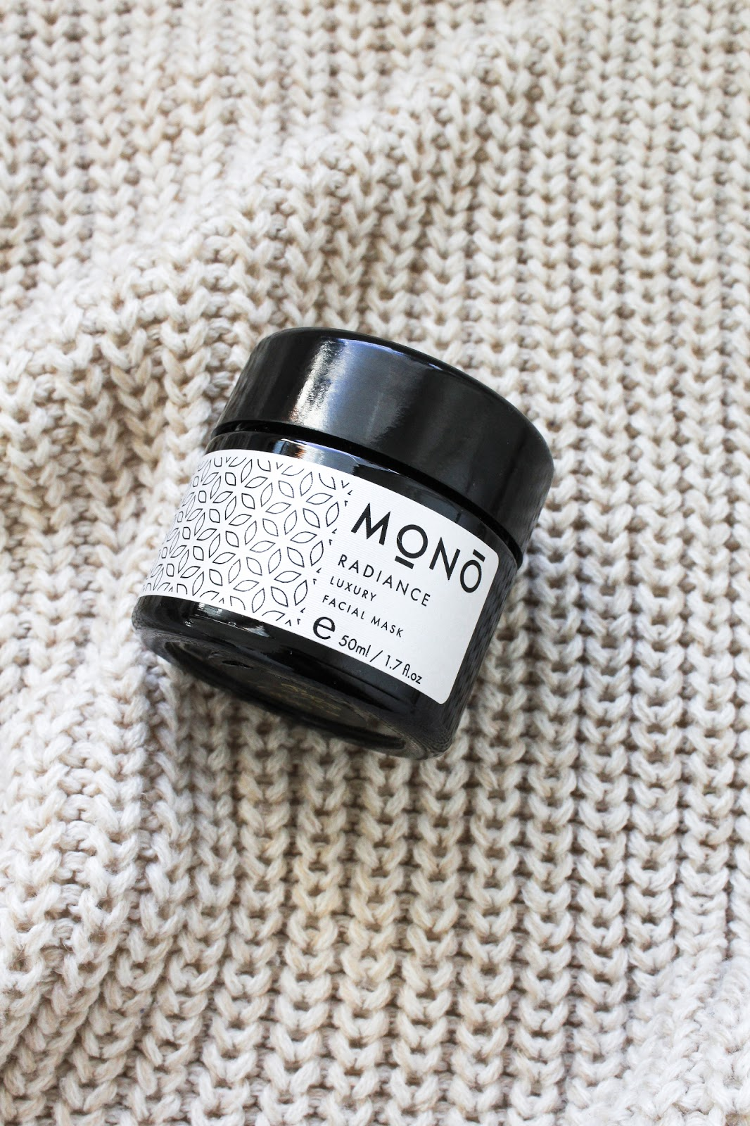 Mono Naturoils Radiance Luxury Facial Mask. Vegan, Organic. Love Lula