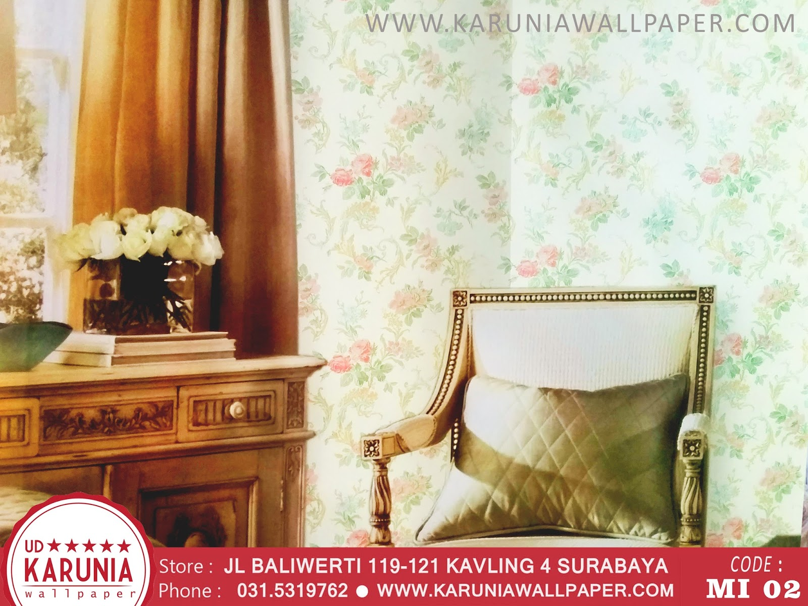 jual wallpaper dinding shabby chic