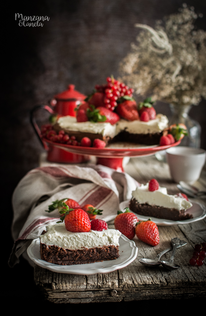 Pastel de chocolate sin harina. Receta sin gluten.