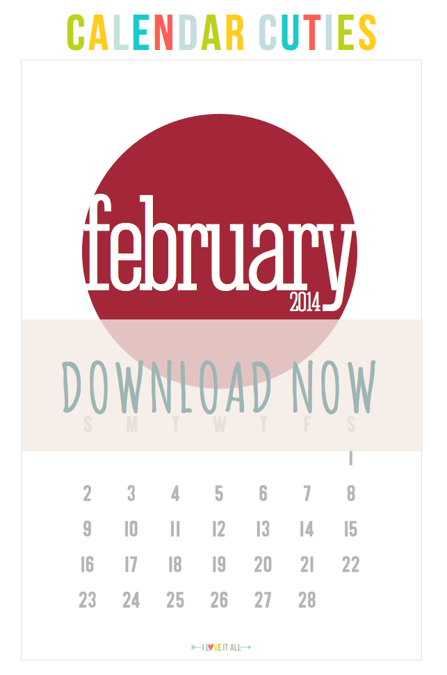 Calendar Cuties February 2014 | iloveitallwithmonikawright.com