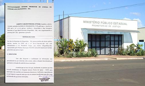 Promotoria recebe denúncia sobre caos na Saúde de Chapadinha