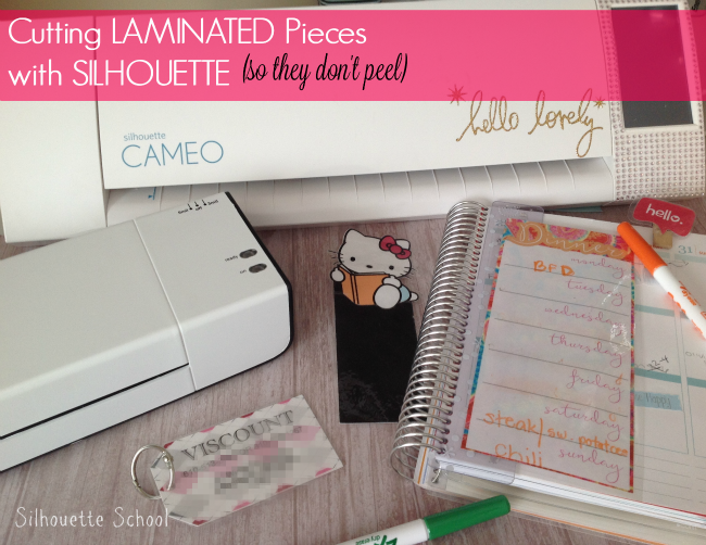 Silhouette tutorial, Silhouette Cameo, laminated pieces