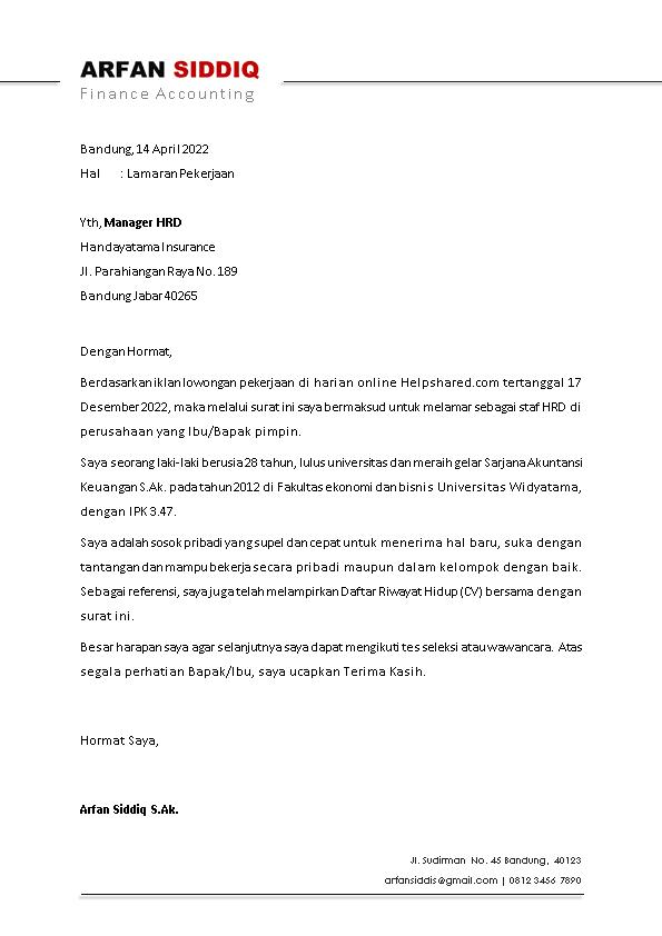 Kop Surat Lamaran Kerja 2