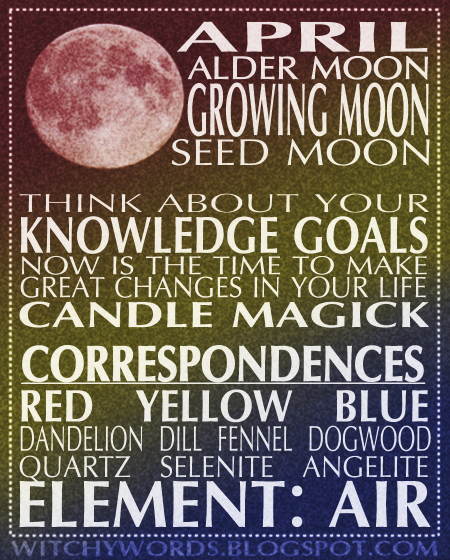 Witchy Words April Growing Moon