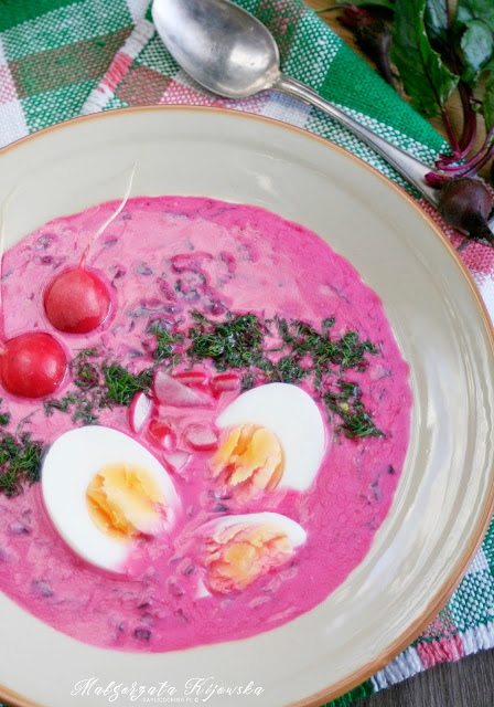 szybki obiad, chłodnik, botwinka na zimno, rzodkiewki, zupa, daylicooking, Małgorzata Kijowska