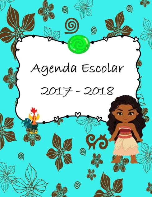 Agenda escolar Moana 2017-2018 en word editable