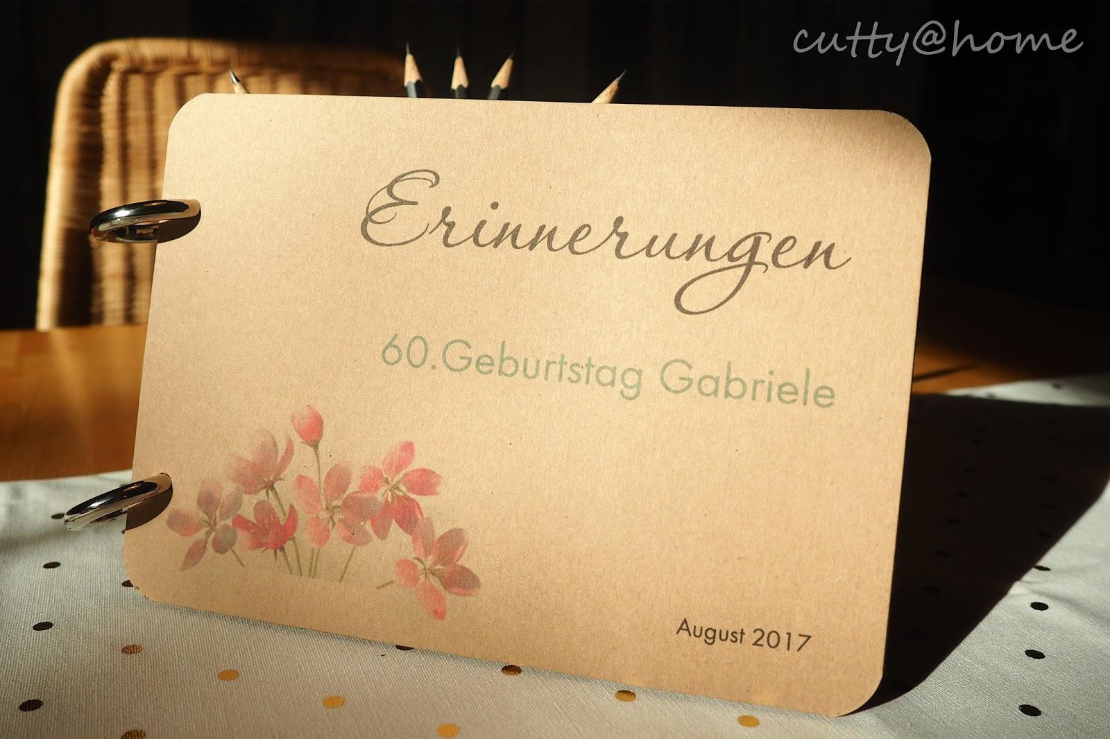 Cutty At Home Schöner Wohnen Leicht Gemacht Diy Gästebuch Zum 60