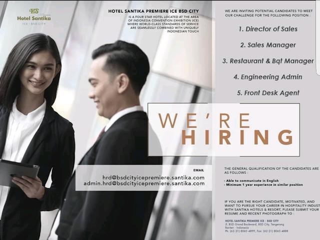 hotel vacancy, hotel jobs
