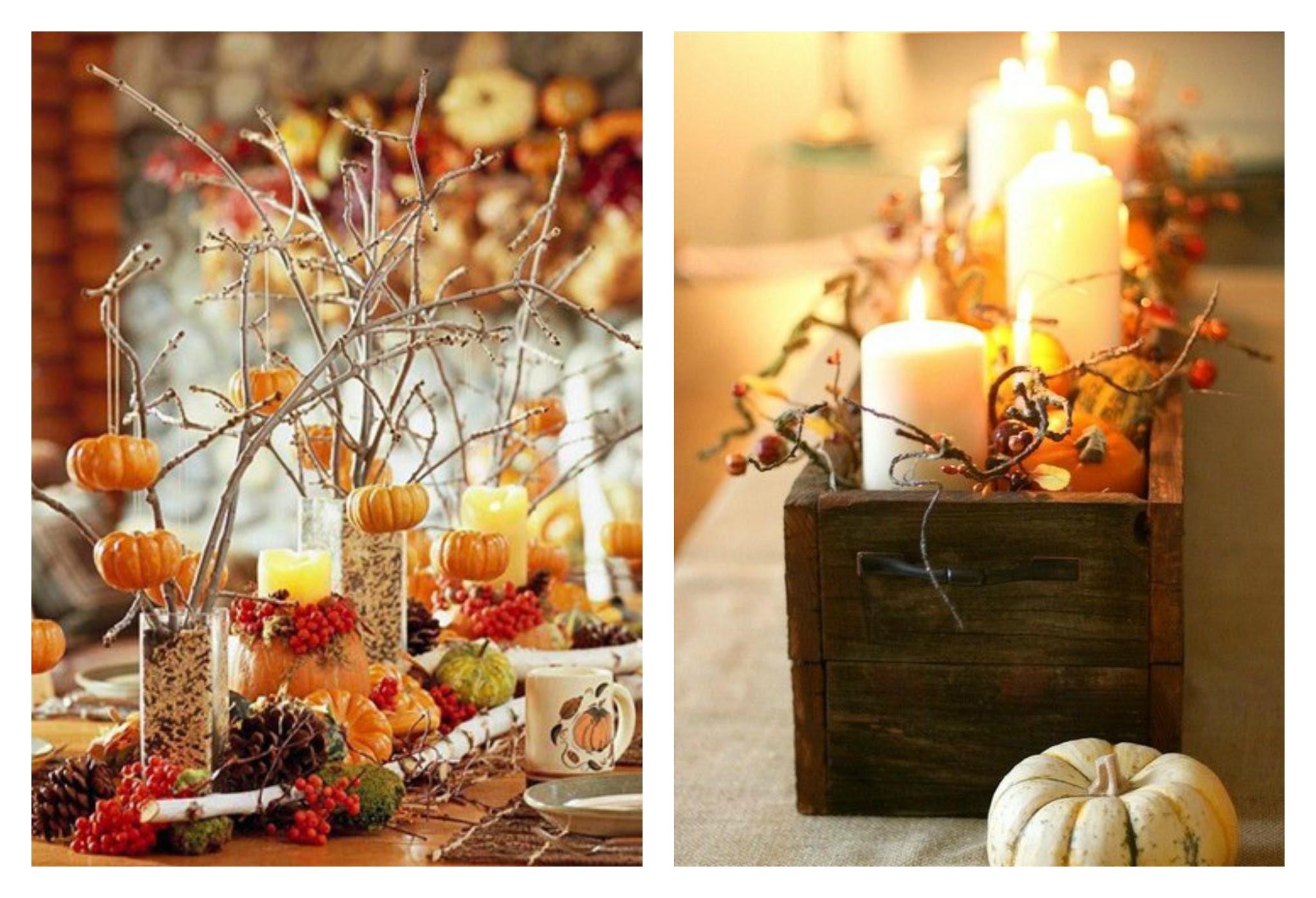 jesienna dekoracja salonu