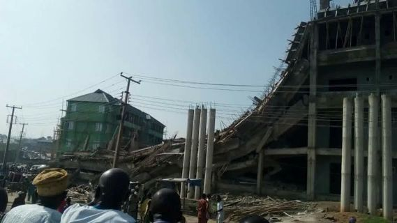 The under construction Itokun shopping complex that collapsed in Abeokuta on the 13th of May