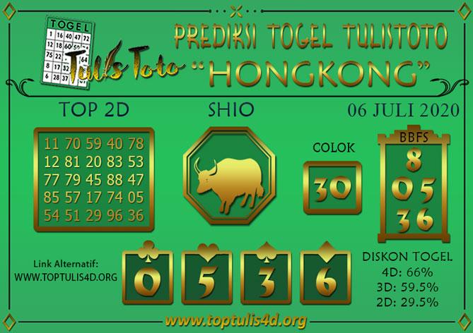 Prediksi Togel HONGKONG TULISTOTO 06 JULI 2020
