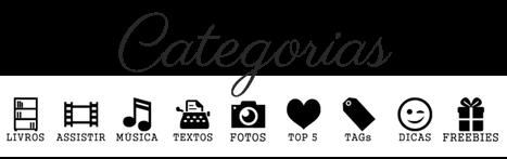 ícones de categorias blog feminino