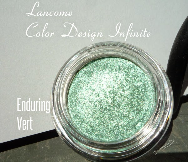Lancôme Color Design Infinité 24H loose eyeshadow in shade Enduring Vert, mint green, general view
