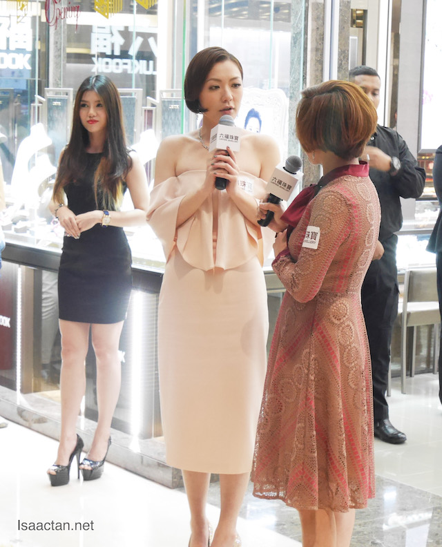 Beautiful ladies at the grand opening of Lukfook Jewellery Retail Shops in Malaysia
