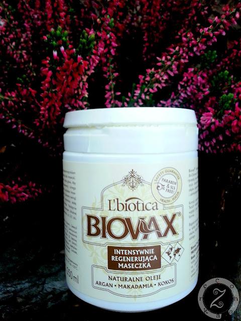 L'biotica, BIOVAX, intensywnie regenerująca maseczka z olejami arganowym, makadamia, kokosowym
