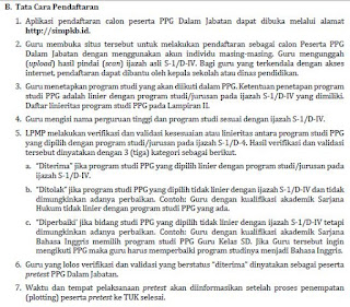 Tata Cara Pendaftaran PPGJ 2018