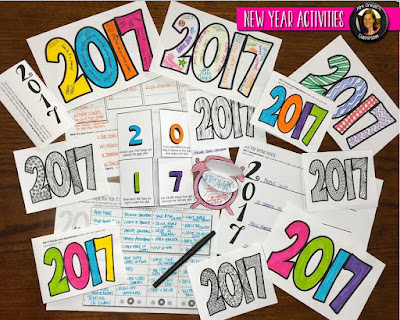 New Year Activities https://www.teacherspayteachers.com/Product/New-Years-2017-Resolution-Goals-Activities-2885520