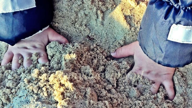 piasek - zabawy sensoryczne