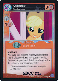 My Little Pony Applejack, Farm Foremare Premiere CCG Card