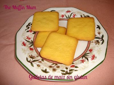 Galletas de maíz sin gluten