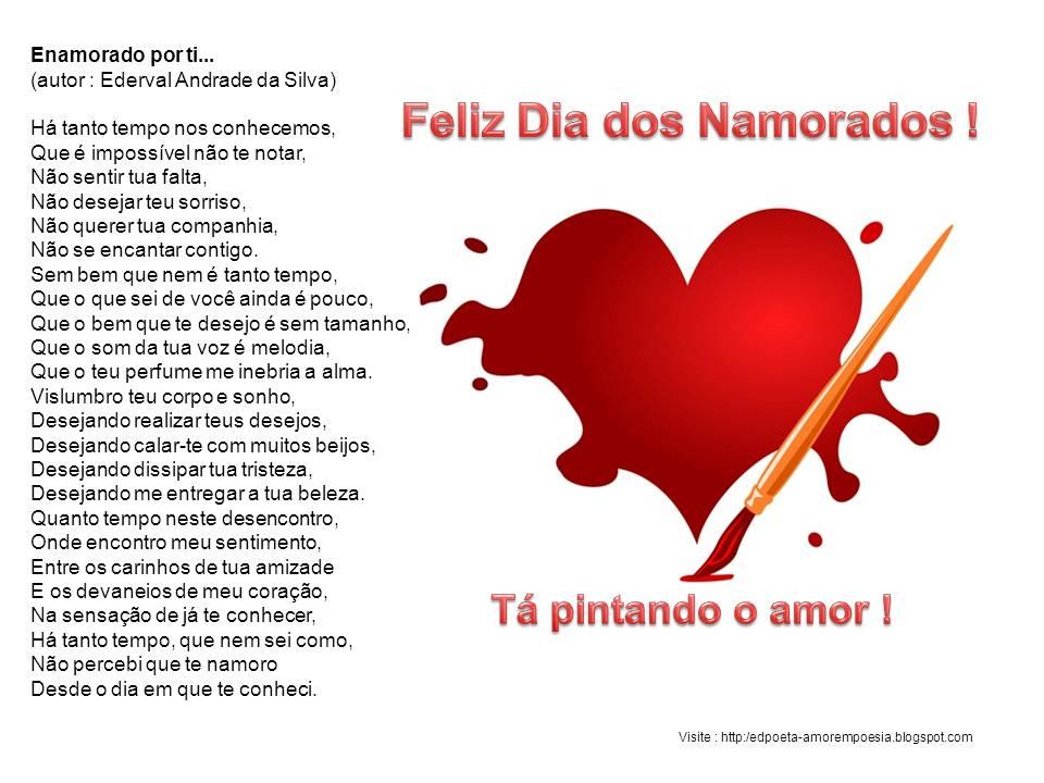 Amor Em Poesia: Feliz Dia Dos Namorados