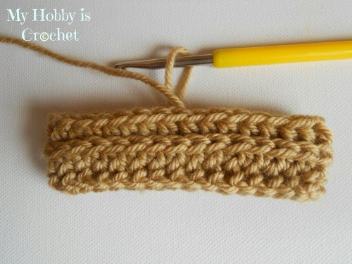 My Hobby Is Crochet: How to turn regular HDC stitches into knit